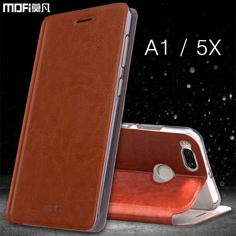 For Xiaomi A1 case mi a1 flip case cover MOFi for xiaomi mi5x case PU leather rose gold stand holder m i5x a1 case 5.5 inches