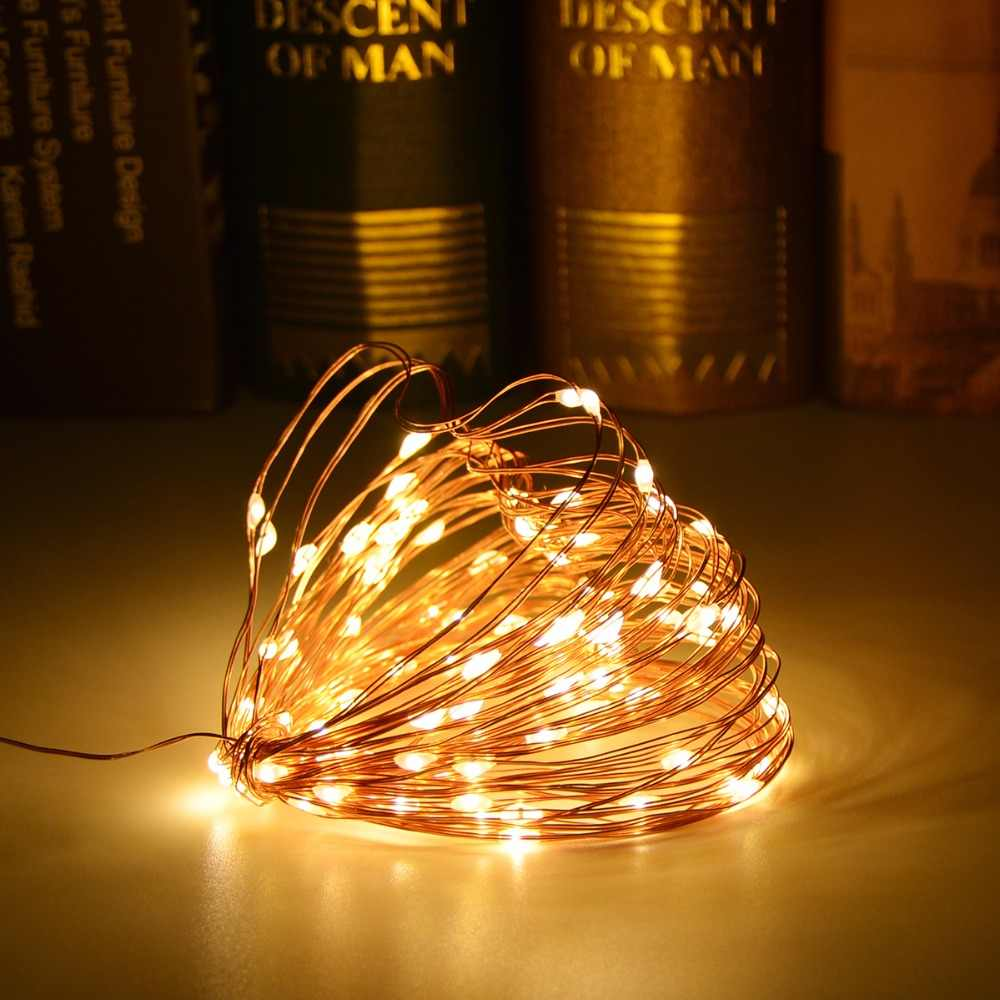 Micro Christmas Lights.Holiday Led String Lights Fairy Micro 20 50 Leds 2m 5m Copper Wire Battery Powered Lamp Party Wedding Christmas Decoration