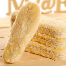 Warm Heated Insoles Soles For Shoes Winter Thick Pad Warm Insoles Imitation Wool Breathable Snow Boots Fur Insoles Pad(China)