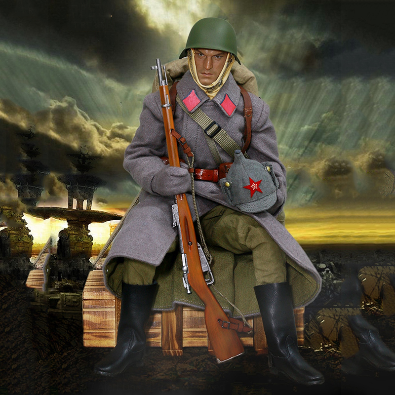 1/6 Soldier Clothes Set WWII Soviet Red Army Infantry Equipment Set For 12 Inches Action Figures world war ii german wwii wehrmacht officer 1 6 soldier set model stanford erich vo gm637 for gift collection