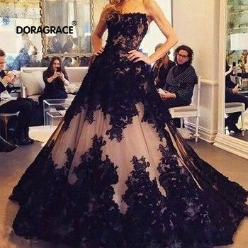Doragrace Vestido De Boda Negro Vestido De Noiva Princesa