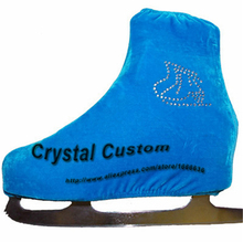 Free Shipping Custom Made Shoes Cover With Velvet Ice Figure Skating Jewelry Ice Skating Dress For Competition WZ2003