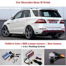 Liislee For Mercedes Benz M W166 – Car Parking Sensors + Rear View Camera = 2 in 1 Visual / BIBI Alarm Parking System