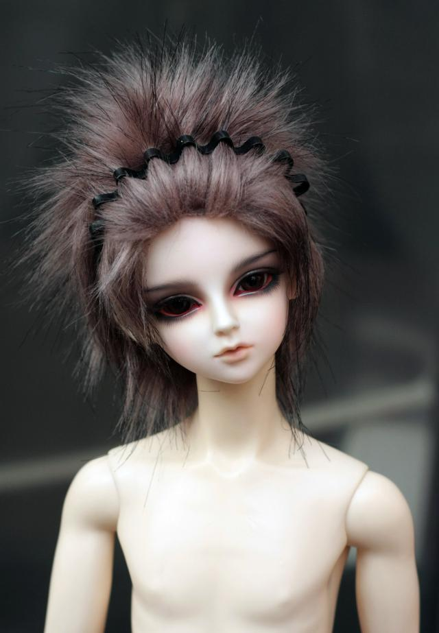 brown mixed black fur wig for1/3 1/4 1/6 BJD SD doll bjd  Wigs short wig for DIY dollfie doll accessories 7 8 7 8inch 18 19cm bjd doll wig pink 3 long fabric fur wig for 1 4 sd doll dollfie antiskid