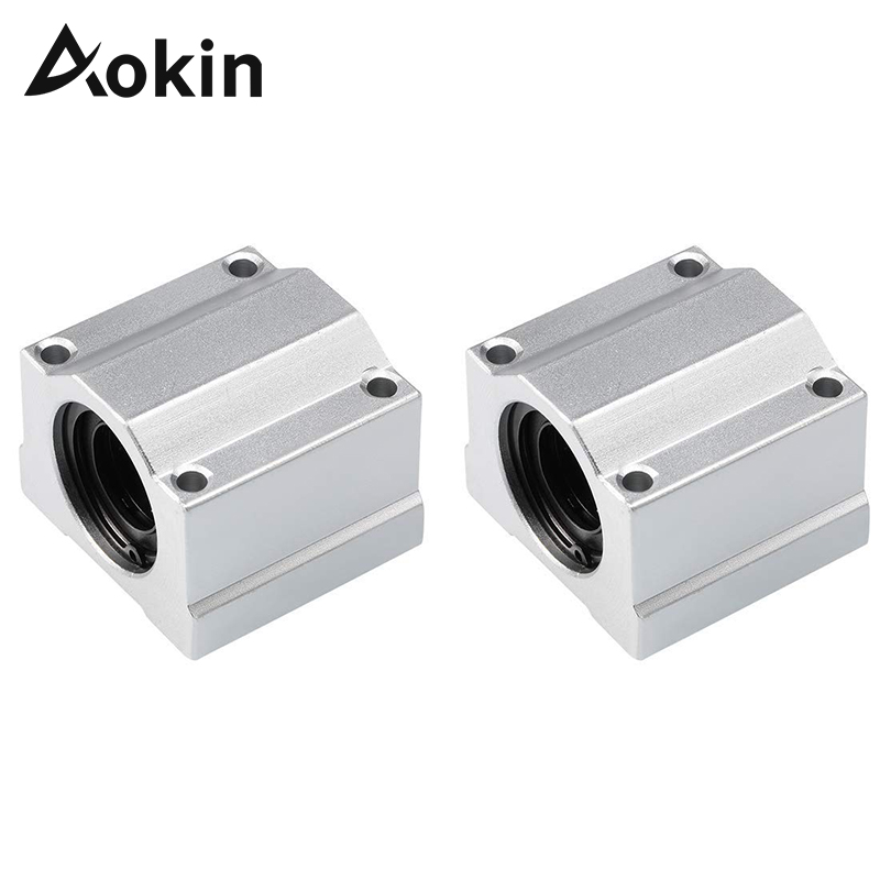 SCS8UU 8mm Linear Ball Bearing Block CNC Router SCS6UU SCS10UU SCS12UU SCS16UU SCS20UU For CNC 3D Printer Linear Rail Shaft Rod