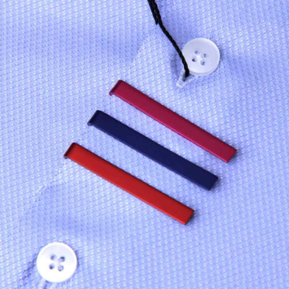 1 pc 4 センチメートルステンレス鋼クラスプクリップバッグのアクセサリー用のクランプピン男の子ネクタイネクタイシンプルなネクタイネクタイ