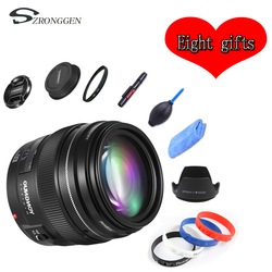 Объектив YONGNUO YN100mm F2 AF/MF для цифровых зеркальных камер Canon EOS, монтажный порт 100 мм с фиксированным фокусом EF 600D 60D 80D 6D 5D3