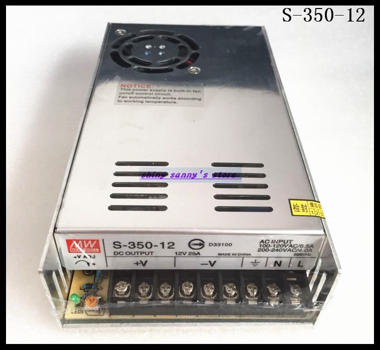 1Pcs S-350-12 350W 12V 29A AC to DC Converter Single Output Switching Power Supply Brand New 20pcs 350w 12v 29a power supply 12v 29a 350w ac dc 100 240v s 350 12 dc12v