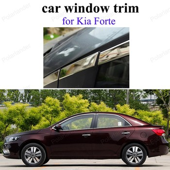without center pillar Stainless steel sill frame For K-ia Forte car styling window trims