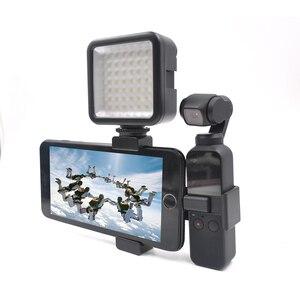 Image 2 - STARTRC OSMO POCKET Metal Phone Clip Holder Kit & LED Lights For DJI Osmo Pocket Mount Stand Accessories kit