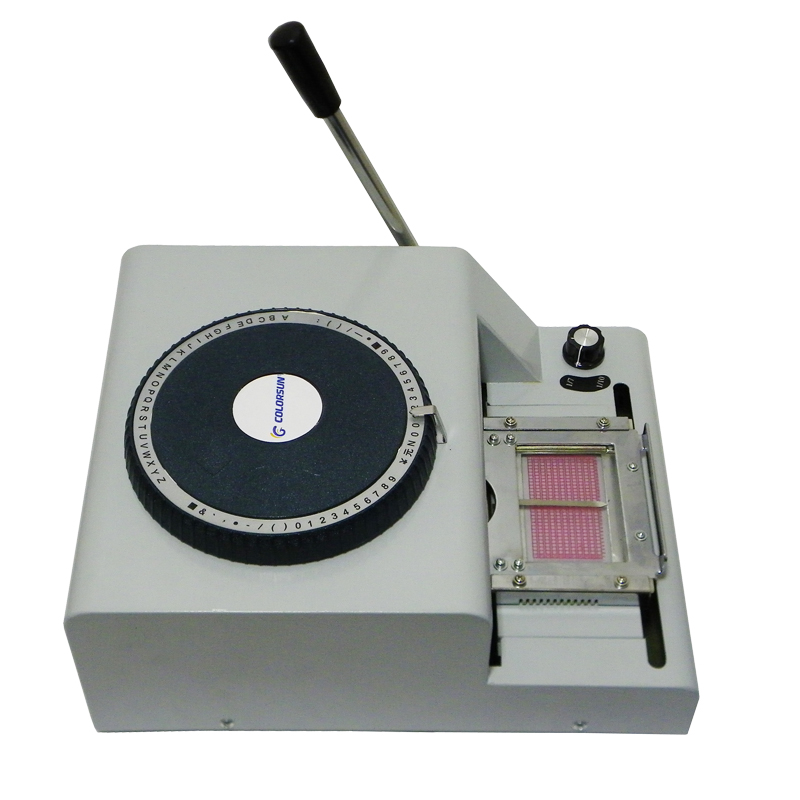 name card code printer PVC card embossing machine with 20 pcs PVC white blank cards and embossed PVC card sample for free non standard die cut plastic combo cards die cut greeting card one big card with 3 mini key tag card
