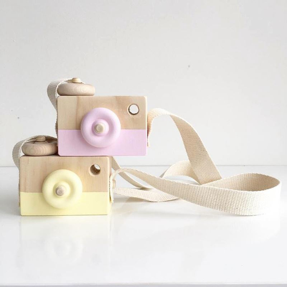 Nordic Hanging Wood Toy Camera 9*8*3.5CM Girl Baby Decor Ornament Gifts Handmade Wooden  ...