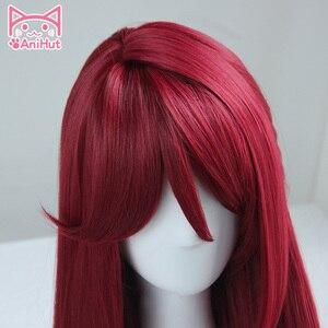 Image 2 - Anihut】 perruque de Cosplay synthétique Sakurauchi Riko, perruque rouge qui aime le soleil en direct, coiffure de Cosplay pour femmes