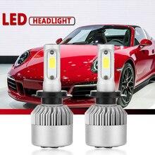2 шт. фар автомобиля мини-лампа H7 светодиодный лампы H1 светодиодный H7 H8 H11 комплект фар 9005 HB3 9006 HB4 72W фары для 8000LM для Авто 12V светодиодный светильник