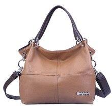 2016 New Retro Women Leather Handbag Design Female Black Shoulder bag Luxury Messenger Cross body bags Tote bolsa feminina FR083