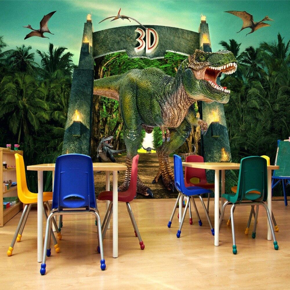 Bande Papier Peint Salon €8.89 51% de réduction|personnalisé 3d affiche papier peint dinosaures  bande dessinée tv fond photo papier peint non tissé salon chambre mur décor