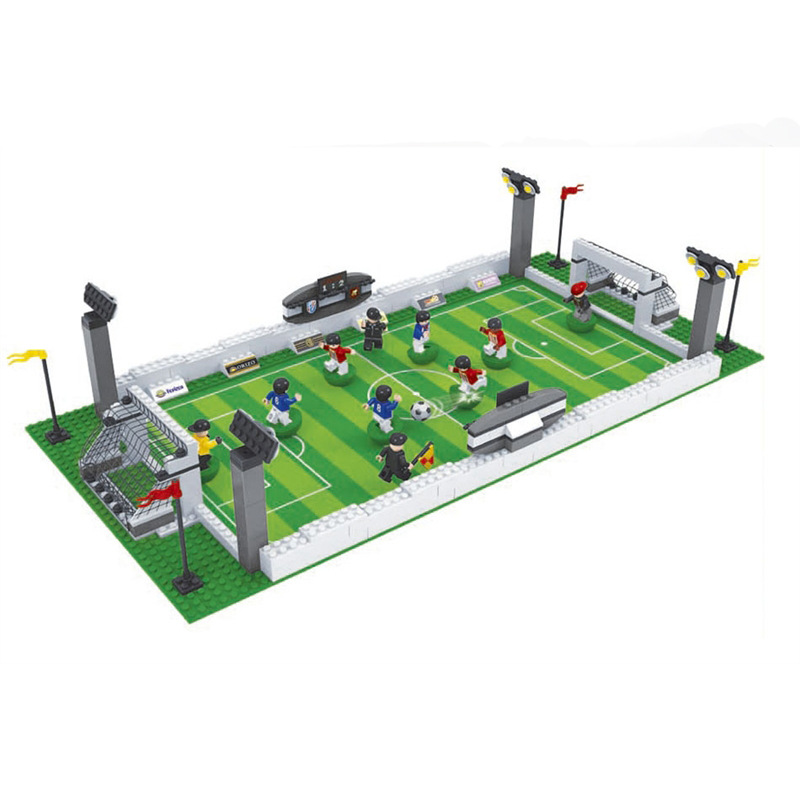 381pcs Football Stadium 3D building blocks Soccer Educational model toys Gifts for children Compatible with LegoINGly City стоимость