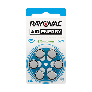 Image 3 - 60 PCS NEW Zinc Air 1.45V Rayovac Air Energy Zinc Air Hearing Aid Batteries 675A A675 675 PR44 Hearing Aid Battery