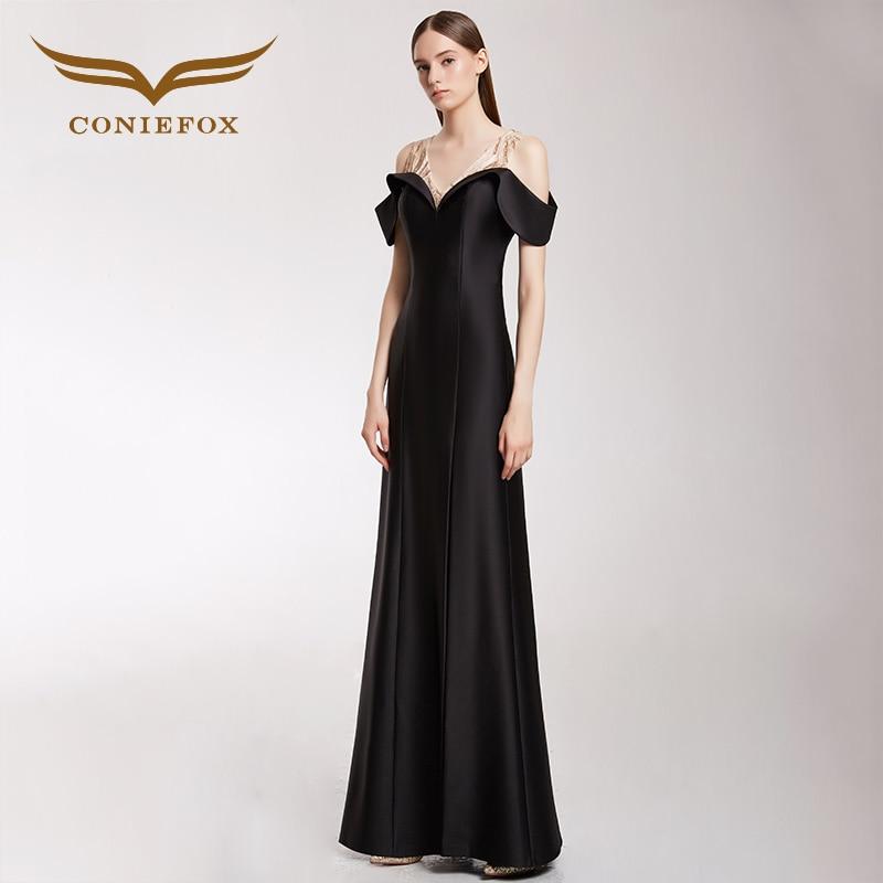 Coniefox 32298 Черный Русалка вечернее платье платья для выпускного вечера для матери невесты платья Vestido De Festa Longo Para Casamento