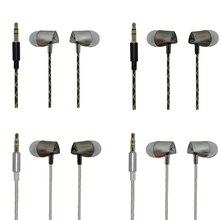 Qijiagu, auriculares estéreo a la moda de 1,2 m con cable y música para teléfono general, auriculares