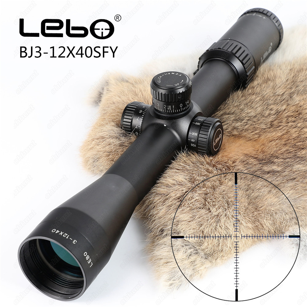 Tactical LEBO BJ 3-12X40 SFY First Focal Plane Rifle Scopes Side Parallax Glass Etched Reticle Hunting Riflescope new evv 4 16x44 ffp first focal plane tactical riflescope scopes hunting optical sight rifles with etched glass rangefinder