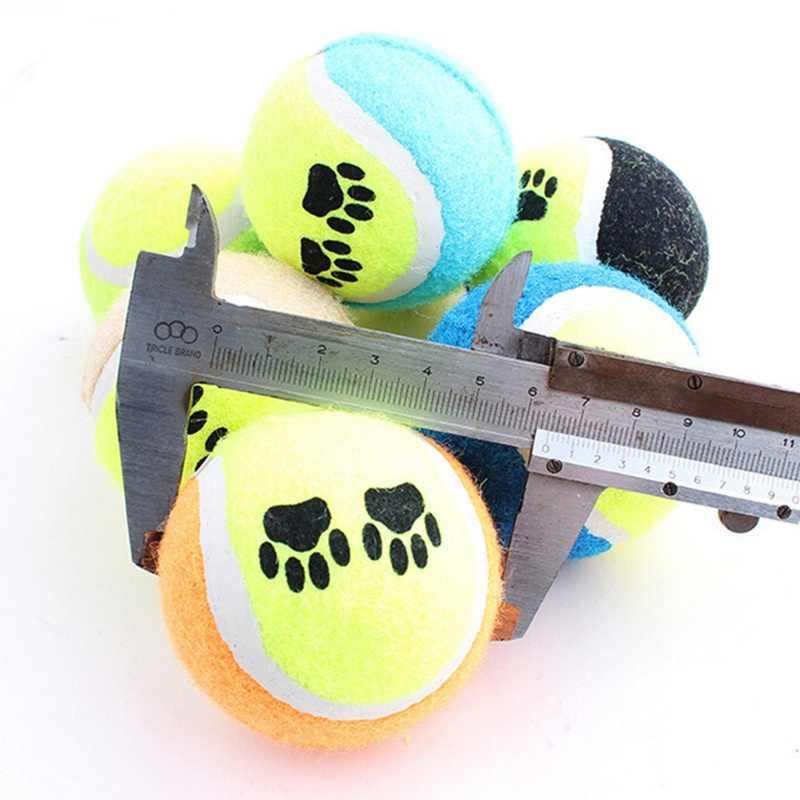 1PC 2018 新ペットの子犬犬のおもちゃゴムテニスボール放射器ランチャートレーニングビーチ咀嚼のおもちゃ 6.5 センチメートル