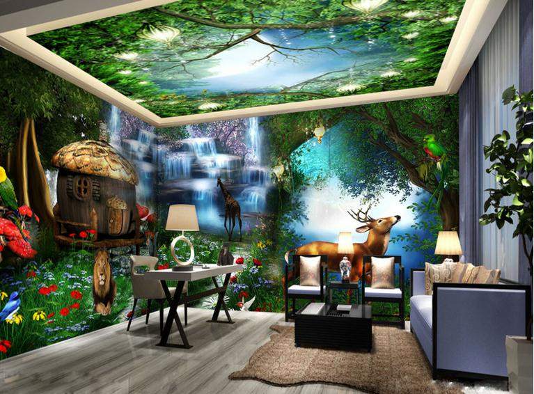 Customized 3d Wallpaper 3d Wall Mural Wallpaper Mural Forest Cabin Whole House Background Wall 3d Living Room Wall Decor Wallpaper Murals Forest 3d Wall Murals Wallpaper3d Wallpaper Aliexpress