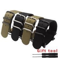 5 anneau en nylon bracelet de montre 24mm bracelet étanche noir armée vert montre smart watch accessoires fit Suunto CORE avec adaptateur