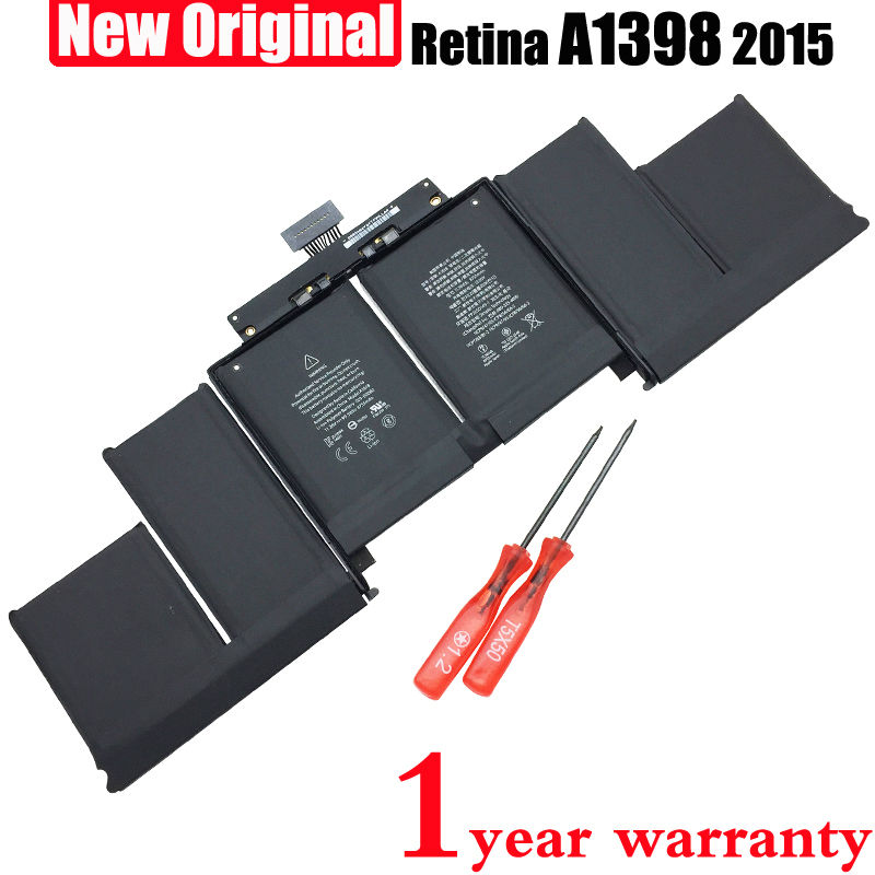 ФОТО New Original A1618 Laptop Battery for Apple Macbook Pro 15'' inch Retina A1398 (2015 year) 11.36V 8775mah 99.5Wh