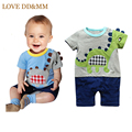 Baby Clothing Romper 2017 Summer Girls Boys Clothes Cartoon Embroidery Dinosaur Romper Infant Toddler Jumpsuit Newborn Clothing