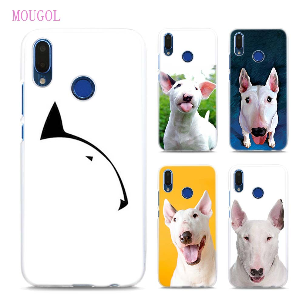 MOUGOL Bullterrier bull terrier Style Transparent Hard Case Cover for Huawei P20 Lite Honor 9 8 Lite 7X 6A 6X 6C Pro