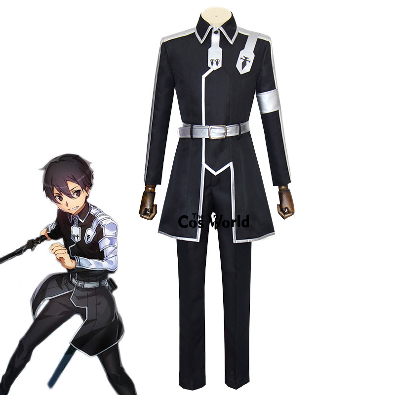 Sword Art Online Alicization Kirigaya Kazuto Kirito Uniform Coat Pants Outfit Anime Cosplay Costumes