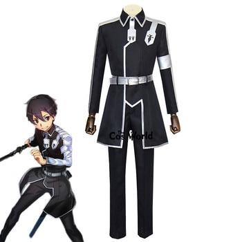 Sword Art Online Alicization Kirigaya Kazuto Kirito Uniform Coat Pants Outfit Anime Cosplay Costumes - discount item  31% OFF Costumes & Accessories
