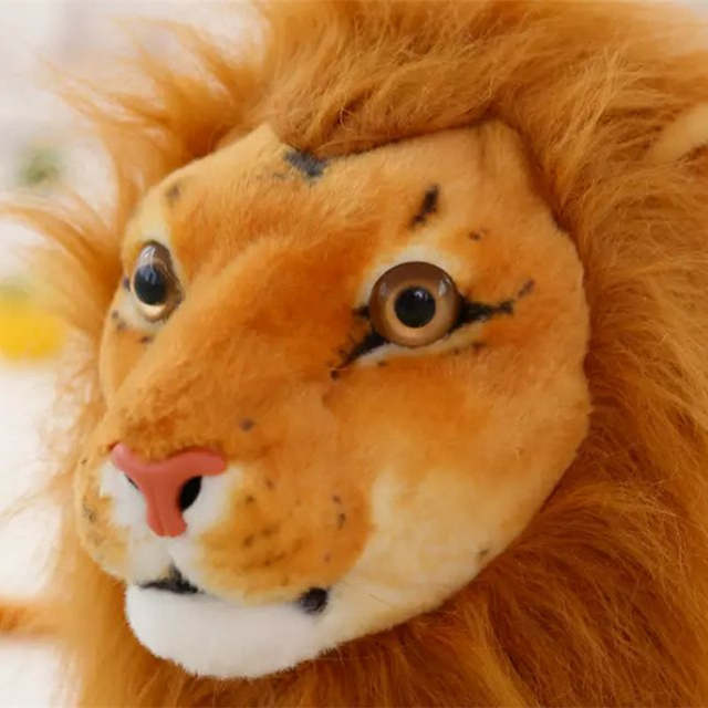 Online Shop Simulation Lion Plush Toys Lovely Birthday Gift Large
