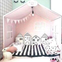 4 шт./лот Комбинации дом ребенка накладка на перила кроватки удобные защиты кроватка для новорожденного вокруг подушки Детские бамперы в кр...