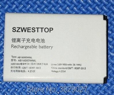 SZWESTTOP d'origine AB1600DWML batterie Pour philips S309 téléphone portable AB1600DWMT pour XENIUM CTS309 smart Mobile