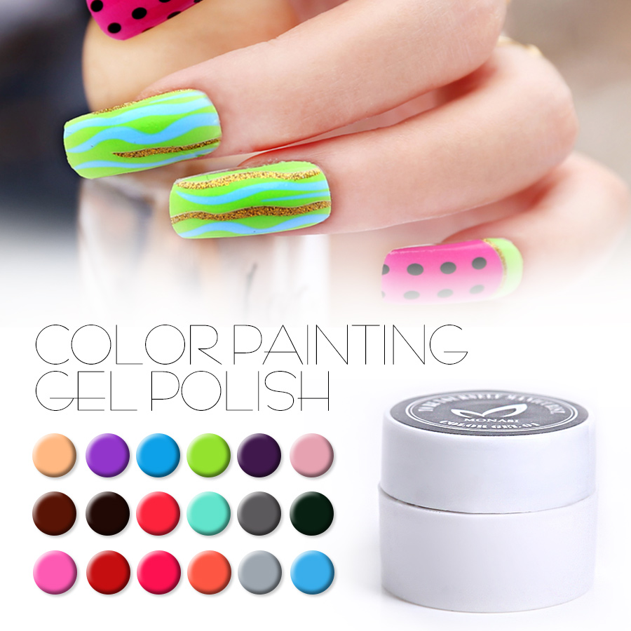 (DP13~DP24) Painting Color Gel UV/LED Nail Gel Curing Lamp Soak Off Nail Art Paint Gel Lacquer UV Gel Polish Painting Color Coat