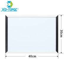 XINDI New 30*40cm Magnetic Whiteboard MDF Black & White Frame Wooden Drawing Board Home Decorative Notice Boards Hot Sale WB08(China)
