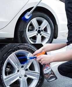 Image 2 - Leepee multi funcional carro detalhando escova de roda de carro ferramenta de combinação de lavagem de carro ferramenta de limpeza de pneus de poeira de carro escova