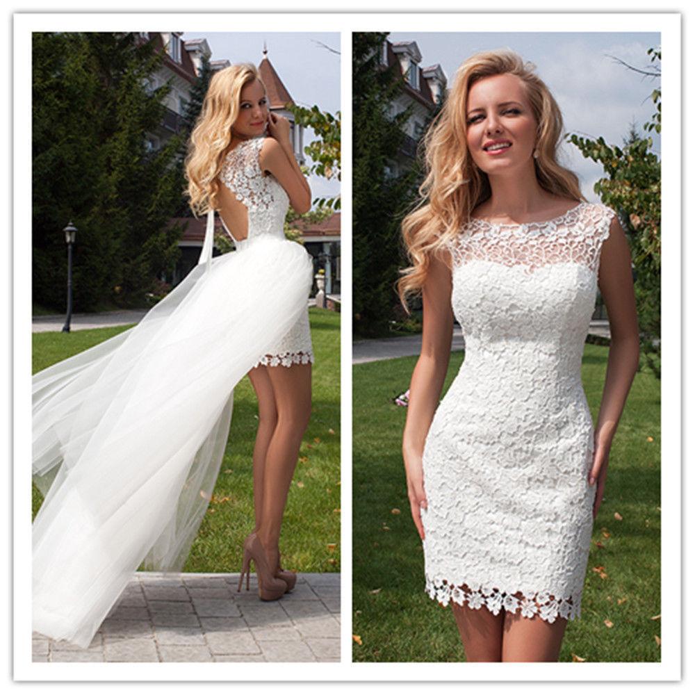 Popular bride short dress buy cheap bride short dress lots for Short wedding dress sale