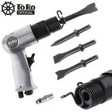 3/8 tortortoro 120mm martelo de ar profissional handheld pistola gás pás pequeno removedor ferrugem corte conjunto de ferramentas pneumáticas com 4 cinzel