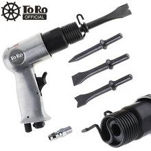 TORO martillo de aire profesional de 3/8 pulgadas, palas de Gas, removedor de óxido pequeño, juego de herramientas neumáticas de corte con 4 Cinceles, 120mm