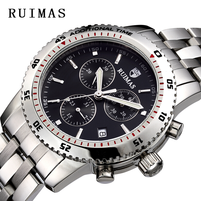 RUIMAS Swiss Watch Brands Sports Chronograph Wristwatch Men Wrist - Men's Watches