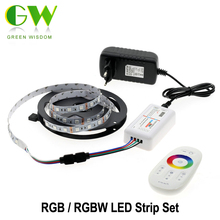 5050 RGB LED Strip 12V 5M 300LEDs RGB / RGBW /RGBWW Neon Strip + 2.4G Touch Remote Controller +12V 3A Power Supply
