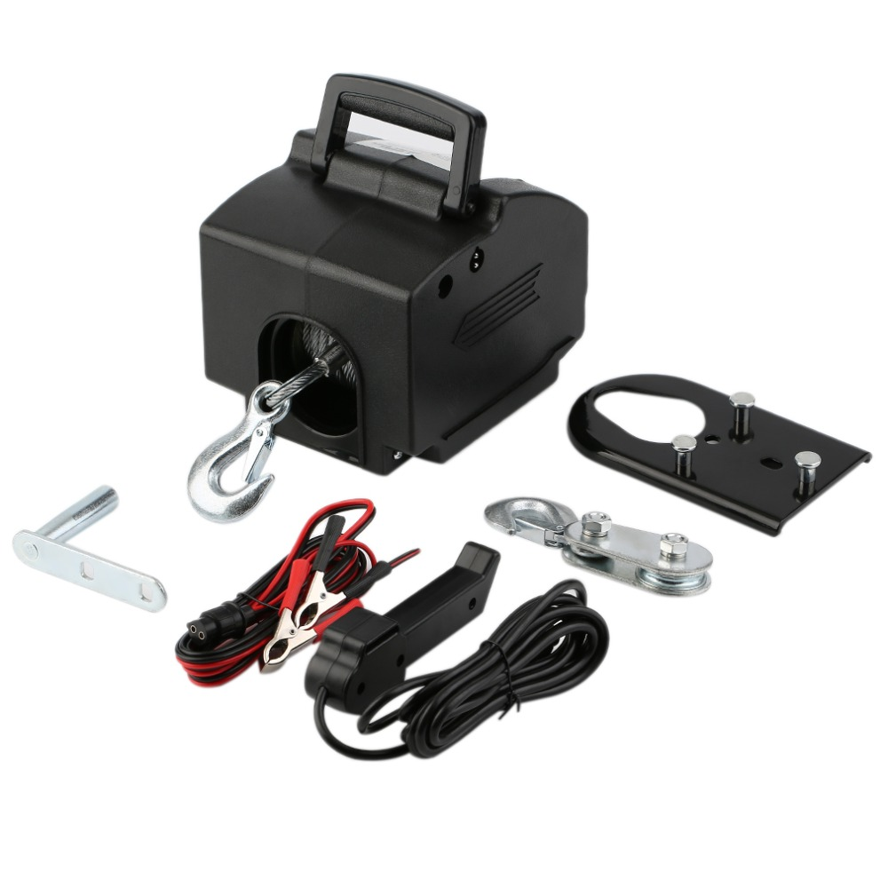 2000LB Pulling Capacity Boar Winch UTV Winch/ATV Winch Accessories with 5m Power Cord Car Tools J20C22
