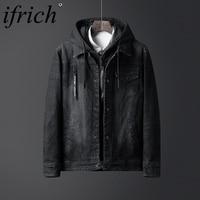 Модные Для мужчин джинсовые куртки высокое качество деловой плащ Для мужчин s Костюмы джинсовая куртка джинсовая хип хоп весна мыть кардига