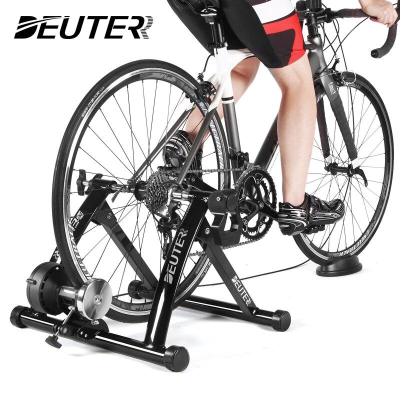 การออกกำลังกายในร่มเทรนเนอร์จักรยานการฝึกซ้อม 6 SPEED ความต้านทานแม่เหล็กเทรนเนอร์จักรยาน MTB จ...
