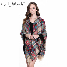 Luxury Brand Square Scarf Women Large Tartan Plaid Blanket Scarf Ladies Winter Scarves Wrap Shawl Femme