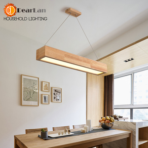 Image 2 - 15W/25W/30W LED Wooden Pendant Light With Arcrylic Shade,Modern Style Pendant Lamp For Living Room/Sitting Room/Bedroom(DY 50)
