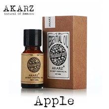 Óleo essencial de maçã akarz marca óleo natural cosméticos vela sabão aromas fazendo diy inodoro matéria prima óleo de maçã